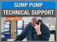 Sump Pump Technical Support