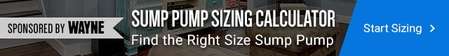 How to Easily Size a Primary Sump Pump