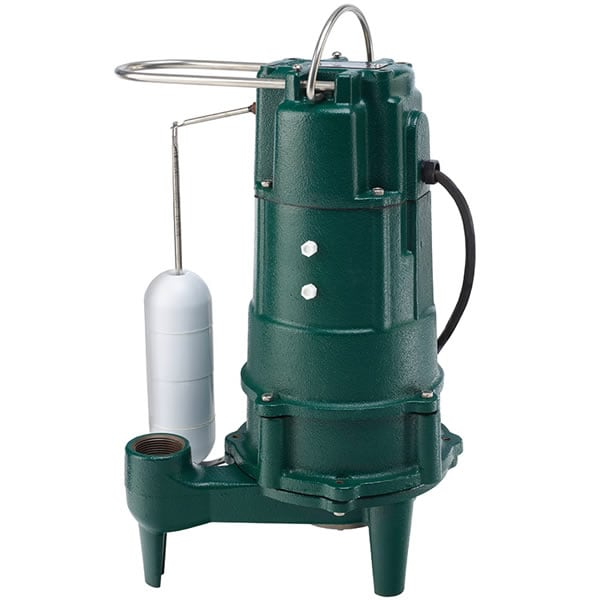 "Zoeller M805 - 3/4 HP Cast Iron Residential Grinder Pump (1-1/4"") w/ Vertical Float"