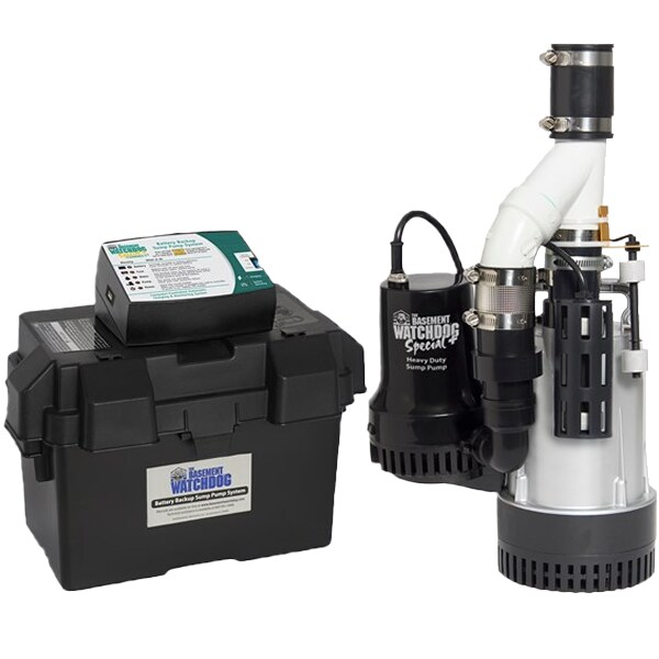 Basement Watchdog BW4000 - 1/2 HP Combination Primary and Backup Sump Pump System