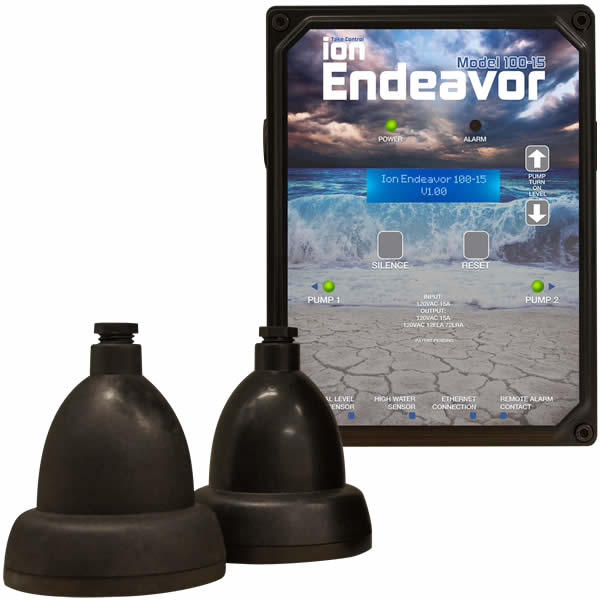Ion Endeavor Programmable Smart Sensing Sump Pump Controller (Up To 12 Amps Total)