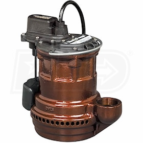 Liberty Pumps 247 VMF - 1/4 HP Cast Iron Submersible Sump Pump w/ Vertical Float Switch
