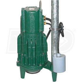 Zoeller Shark® 820-0011 - WD820 2 HP Cast Iron Grinder Pump w/ Piggyback Tether Switch (230V)