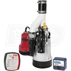 Basement Watchdog DFK-961 - 1/3 HP Combination Primary and Backup Sump Pump System