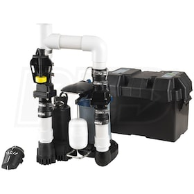 Blue Angel Pumps - 1/3 HP Pre-Assembled Combination Primary & Backup Sump Pump System