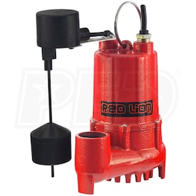 Red Lion RL-SC50V - 1/2 HP Cast Iron Submersible Sump Pump w/ Vertical Float Switch