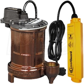 Liberty Pumps 250 - 1/3 HP Cast Iron Submersible Sump Pump w/ LevelGuard