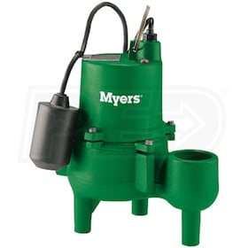 "Myers SRM4PC-1 - 4/10 HP Cast Iron Sewage Pump (2"") w/ Tether Float Switch"