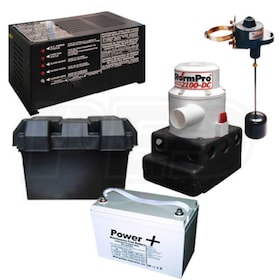 StormPro Battery Backup Sump Pump System and Battery (2100 GPH @ 10')