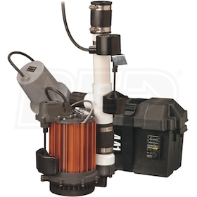 Liberty Pumps PC257-441 - 1/3 HP Combination Primary (257) & Battery Backup Sump Pump System