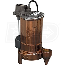 Liberty Pumps 287 - 1/2 HP Cast Iron Submersible Sump Pump w/ Vertical Float