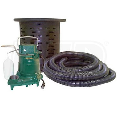 Zoeller 108-0001 - 3/10 HP Cast Iron Crawl Space Pump System w/ 24' Hose Kit