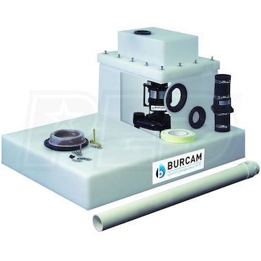Burcam Pumps 1/2 HP Easy Flush Sewage Pump System