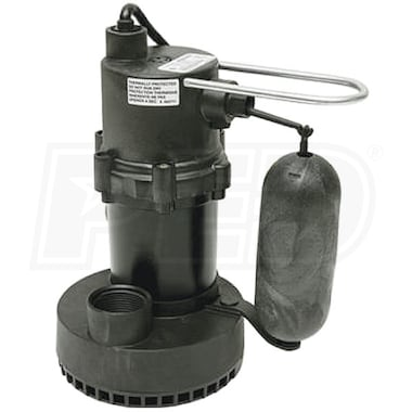 Little Giant 5.5-ASP - 1/4 HP Submersible Sump Pump w/ Vertical Float Switch