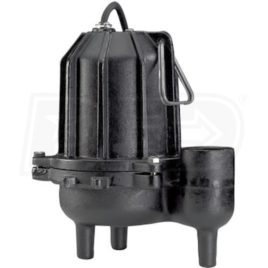 "Wayne DSP60 - 6/10 HP Heavy Duty Cast Iron Sewage Pump (2"") (Non-Automatic)"