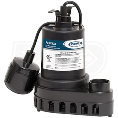 ProFlo PF92370 - 1/3 HP Thermoplastic Sump Pump w/ Tether Float Switch