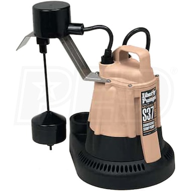 Liberty Pumps S37 - 1/3 HP Builders Series Sump Pump w/ Vertical Float Switch