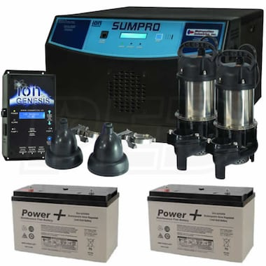 SUMPRO Platinum Combination Battery Backup System w/ 2 Batteries