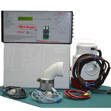 NexPump AiJet-ENiW - Battery Backup Sump Pump System w/ Wireless Internet Notification (Email only) (3420 GPH @ 10')